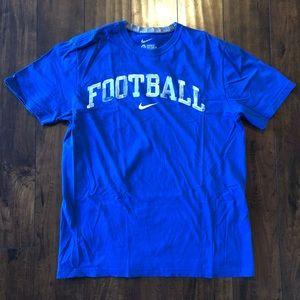 Nike standard fit BLUE football tshirt
